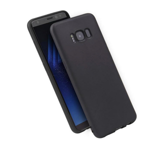 Phone Case for Samsung Galaxy - BLACK - Soft Thin Matte