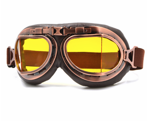 Classic WWII Vintage Harley Style Motorcycle Goggles