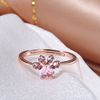 Image of Crystal Paw Print on Rose Gold Ring