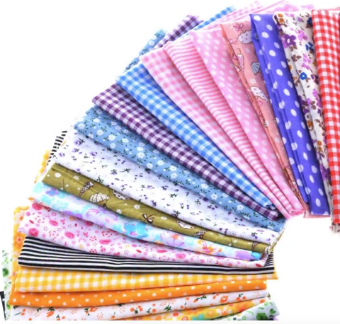 50 pc Cotton Patchwork Fabric