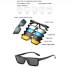 Image of 5 in 1 Magnetic Lens Swappable Sunglasses