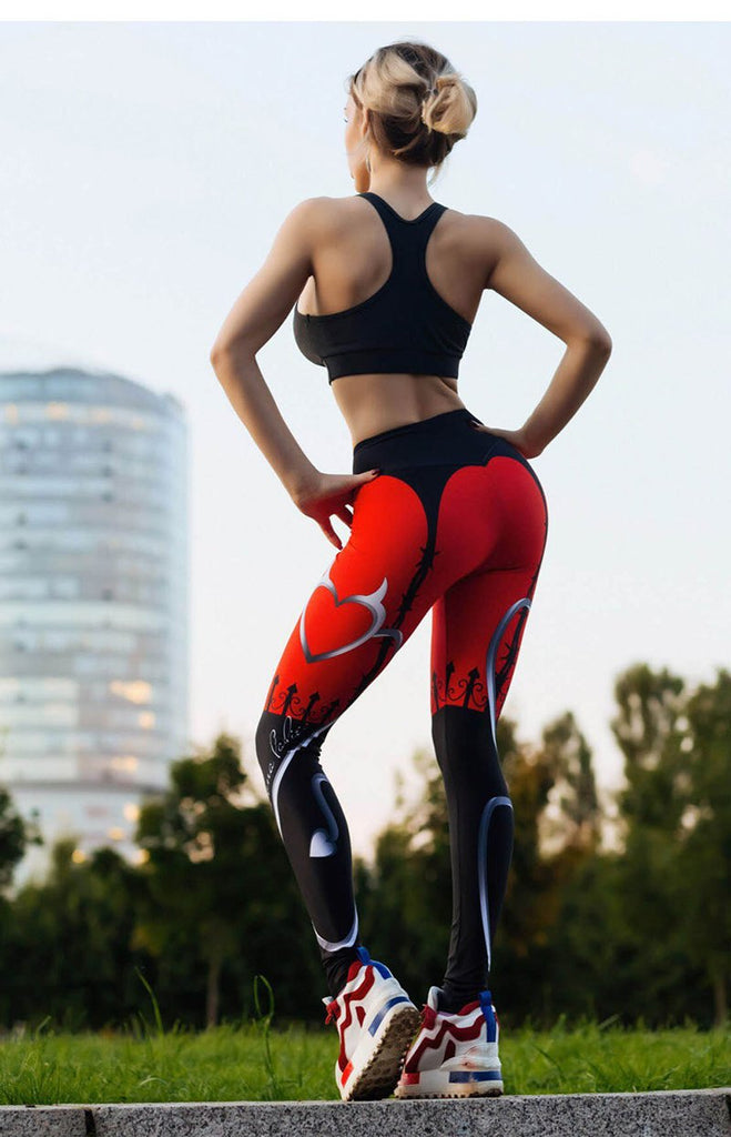 Devil Heart Leggings