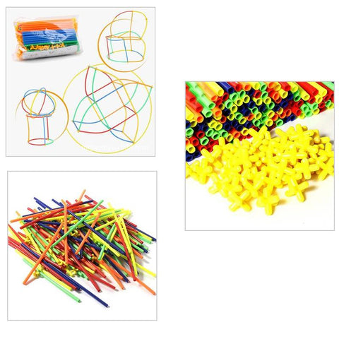 Childrens Straw Building Blocks