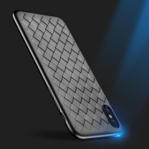 Luxurious Phone Case For iPhone with Weaved Design