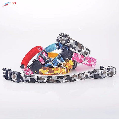Night Safety LED Flashing Dog Collar - Camouflage