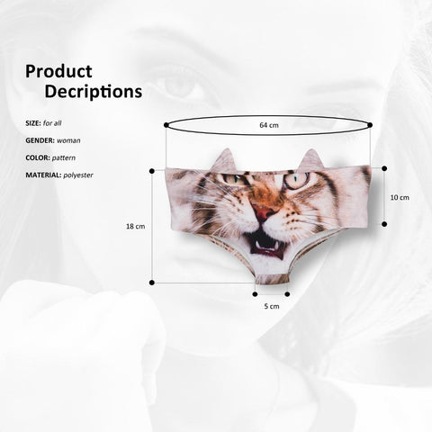3D Kitty Cat Panties