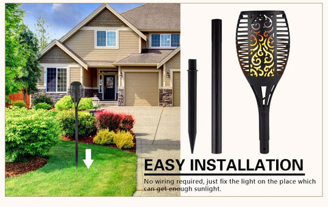 Solar Powered Garden Torch (2 Pack)