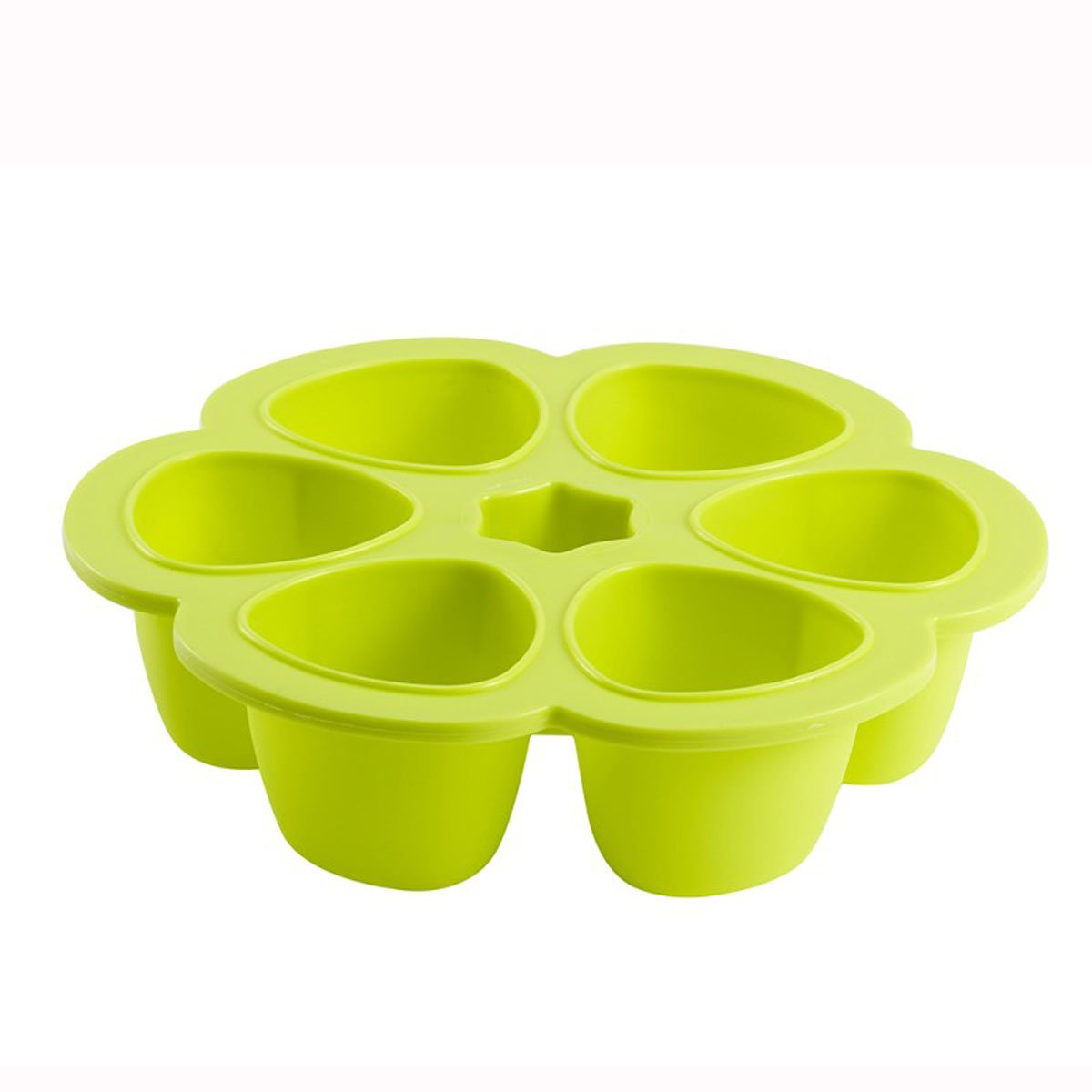 Beaba Multiportions Silicone 6 Storage Sections 150ml Neon