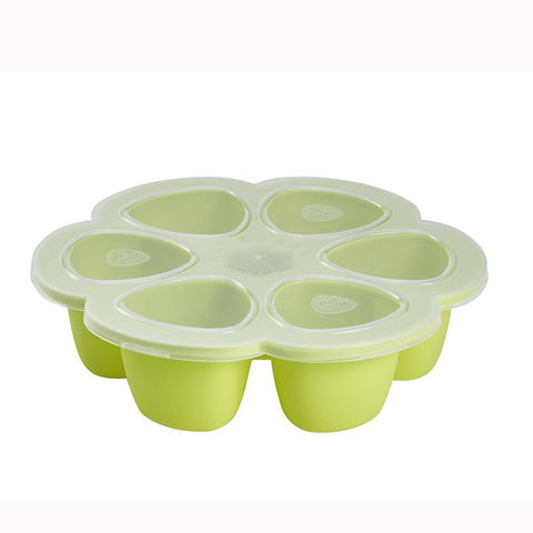 Multiportions Silicone 6 Storage Sections 90ml Neon - Beaba