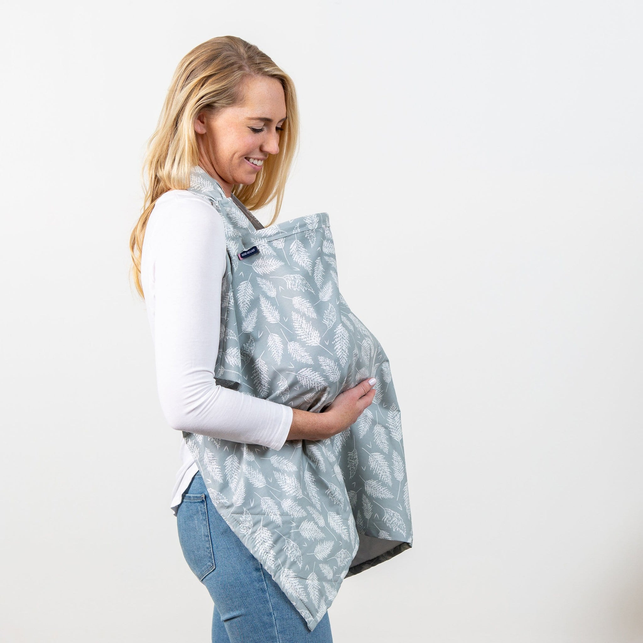 Bebe Au Lait Premium Cotton Nursing Cover-Fern