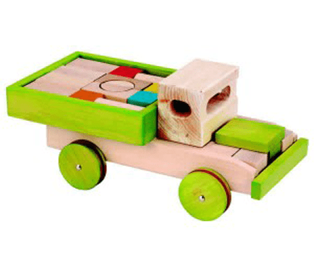 EverEarth 22pcs Block Set with Push Along Truck