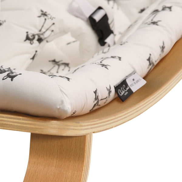 Levo Baby Rocker Rose in April Fawn - Natural  - Charlie Crane