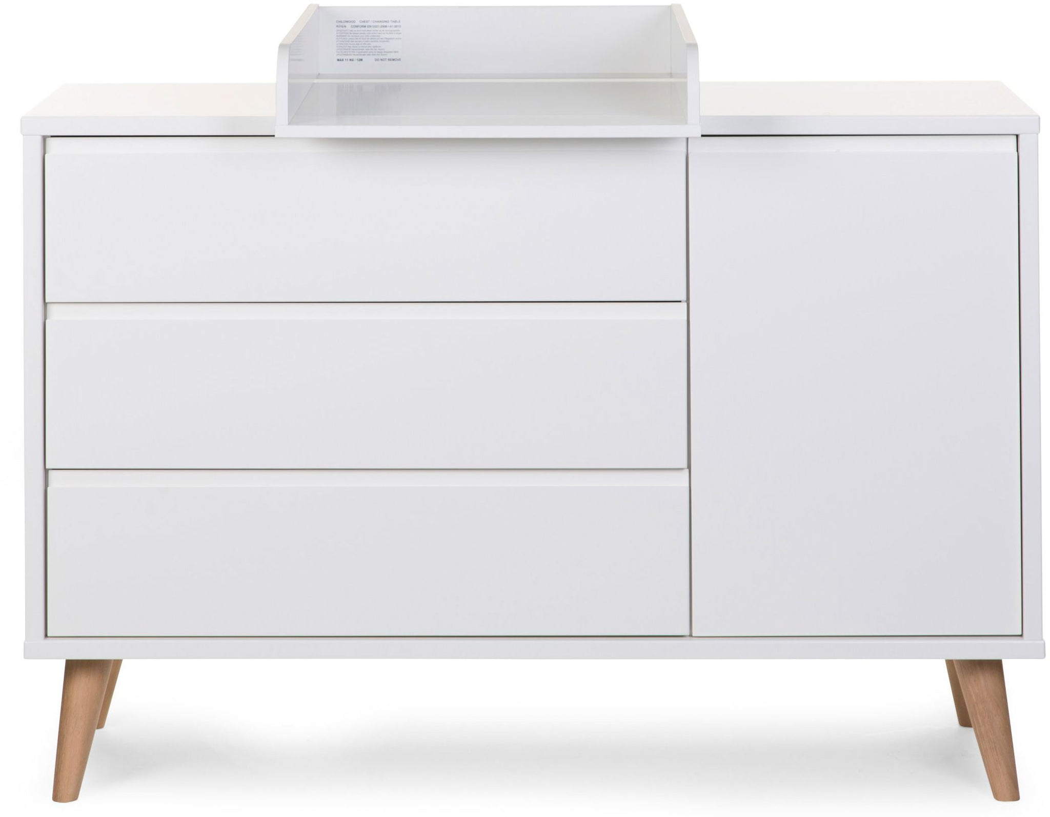 ChildHome Retro Rio Dresser Large White with Changing Table