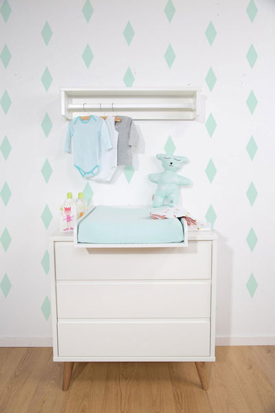 ChildHome Retro Rio Dresser White with Changing Table
