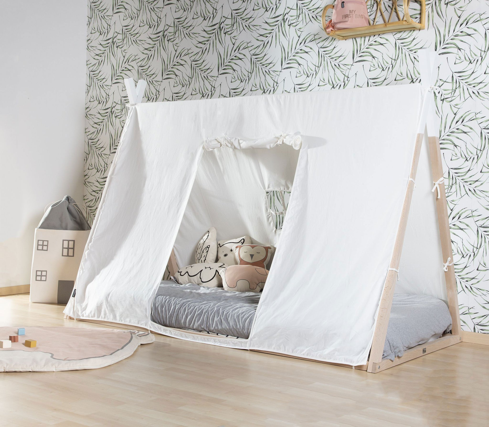 ChildHome Tipi Bed Natural White 90 x 200 cm
