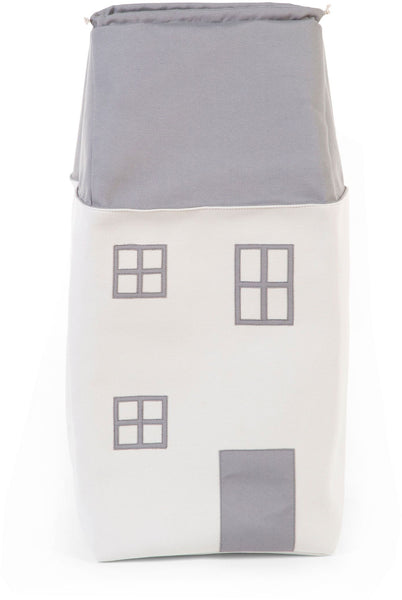 ChildHome Toy Storage Bag House Grey Offwhite