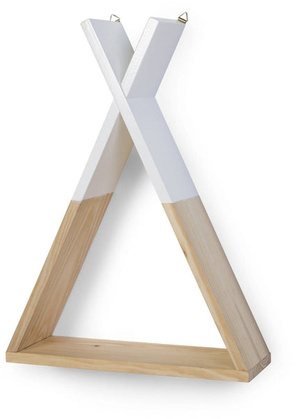 Wall Shelf Teepee Natural White - ChildHome