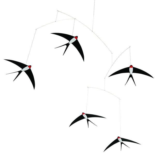 Five Flying Swallows Mobile - Flensted