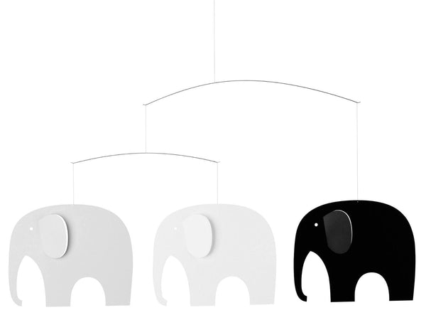 Flensted Mobiles Elephant Party Black/Grey Mobile