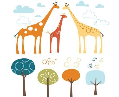 Wall Decals Giraffe Safari - Skip Hop