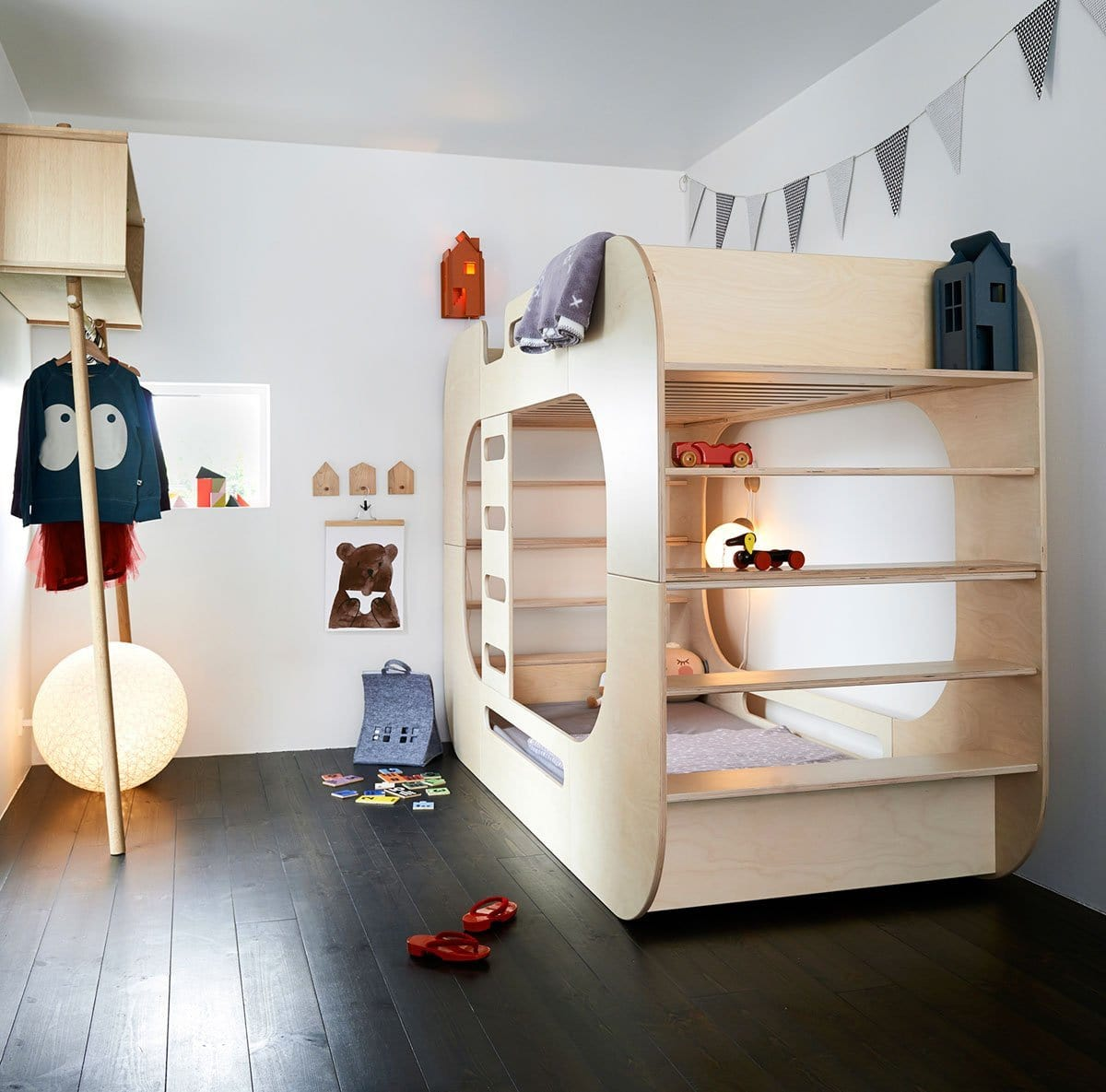 IO Kids Design IO Bunk Bed Natural