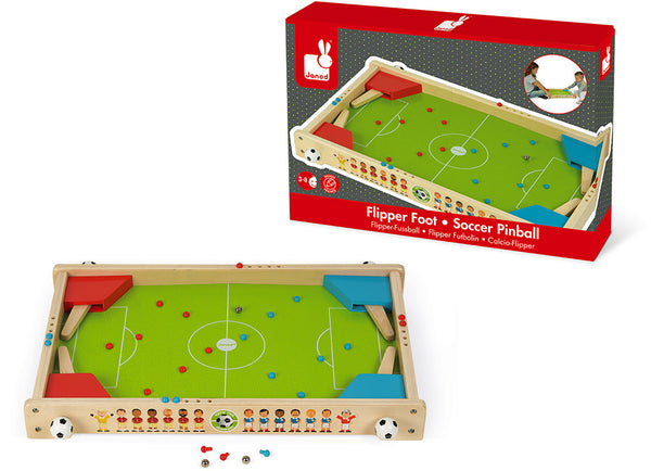 Flipper Foot Champions Wooden Pinball Game - Janod