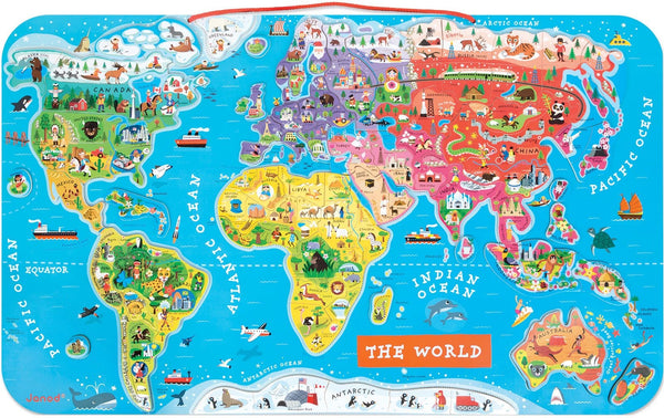 Magnetic World Map Puzzle - Janod