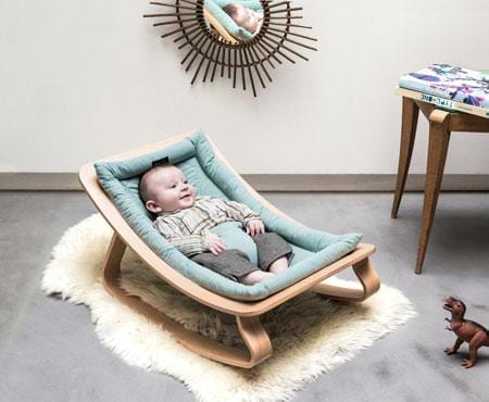 Charlie Crane Levo Baby rocker Blue - Natural