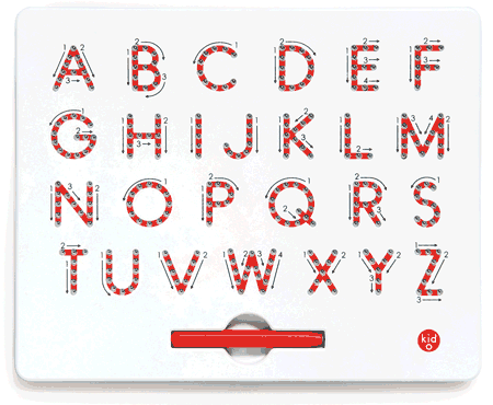 Kid O A to Z Magnatab Uppercase Letters