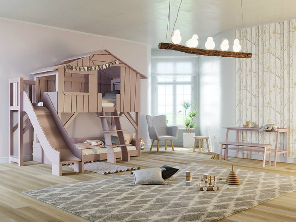 Mathy By Bols Treehouse Bunk Bed with slide