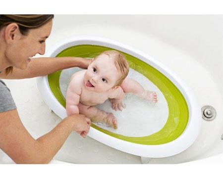 Naked Collapsible Baby Bath Green - Boon
