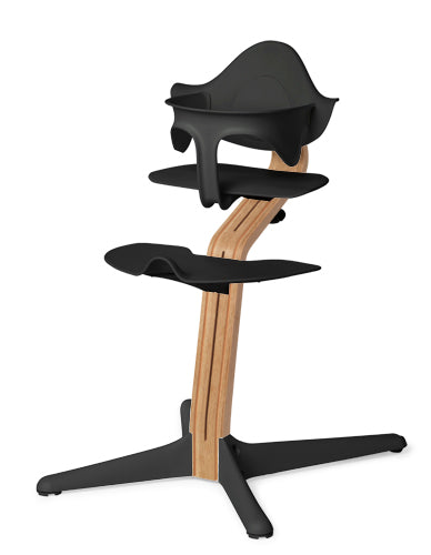 Evomove Nomi High Chair and Baby Recliner Black