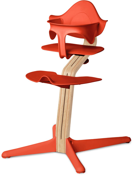 Evomove Nomi High Chair and Baby Recliner Burnt Orange