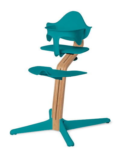 Evomove Nomi High Chair and Baby Recliner Ocean