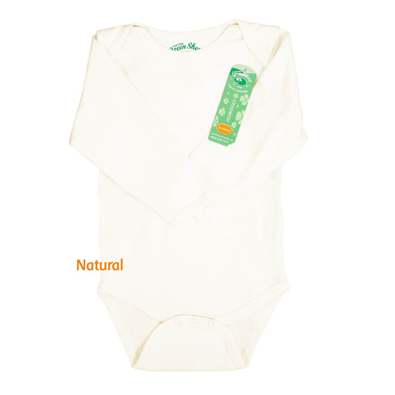 Organic Long Sleeved Baby Bodysuit