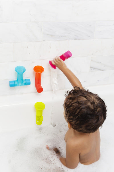 Pipes Building Bath Toy Multi Coloured - Boon
