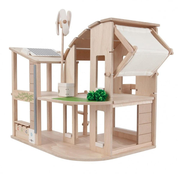 Plan Toys Modern Green Dollhouse Set