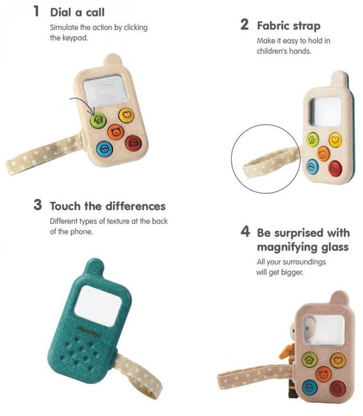 My First Phone Wooden Toy - Plan Toys