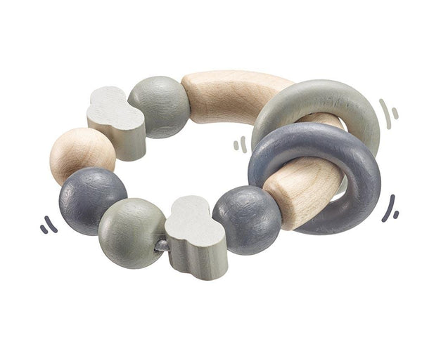 Selecta Wooden Toys Cloud Shaped Grey Wooden Gripping Toy