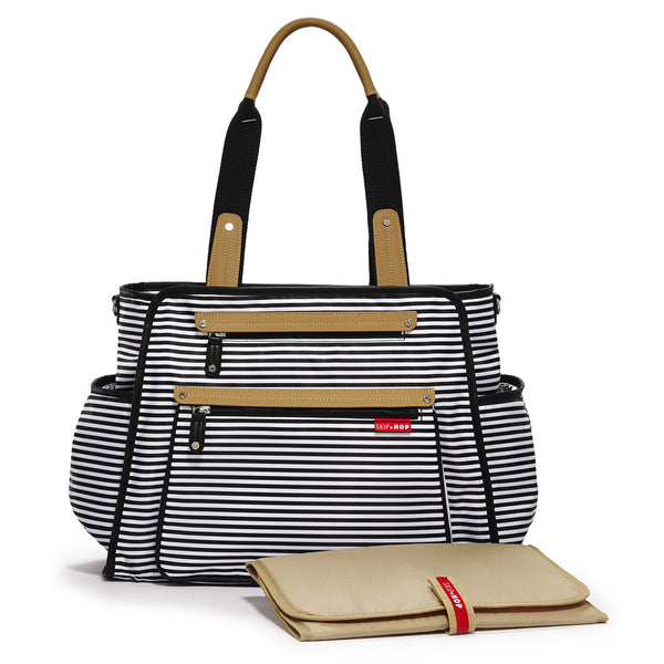 Skip Hop Grand Central Changing Bag Black White Stripe