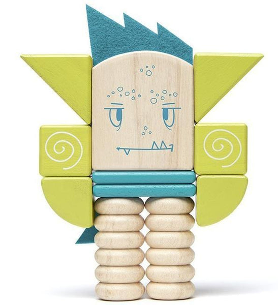Tegu Sticky Monsters Zip Zap Magnetic Character Set