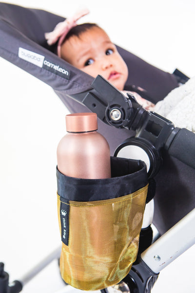 Think King Soft Buggy Cup Holder Accessory Gold