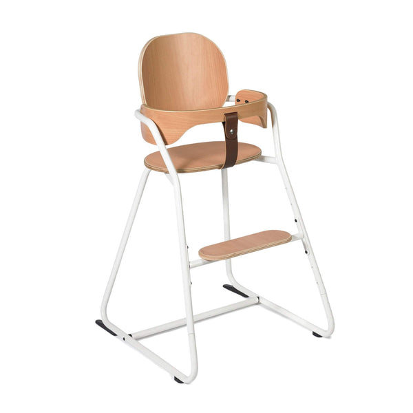 Tibu Retro High Chair Gentle White - Charlie Crane