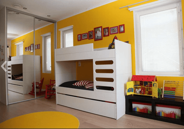 AVA Room AVA Kids Bunk Bed White