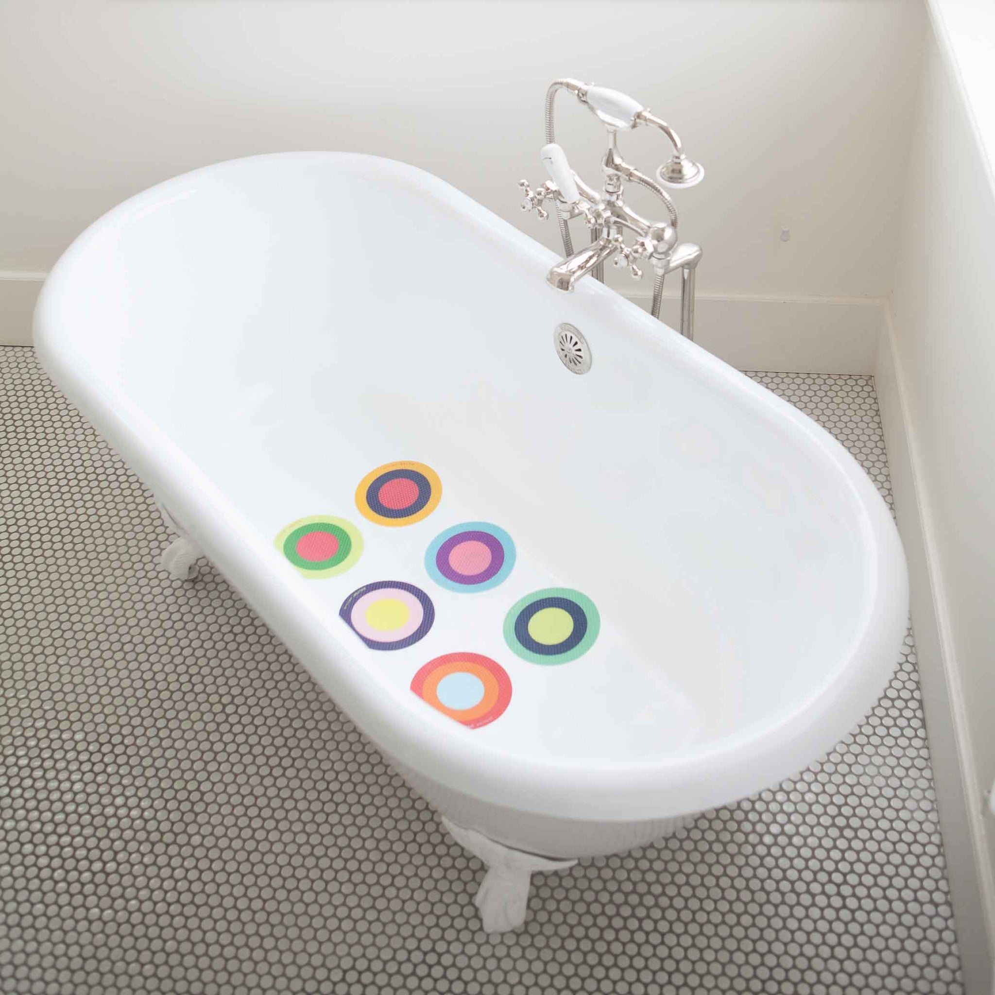 Treads - 6 Pieces Super grippy bath treads - Puj