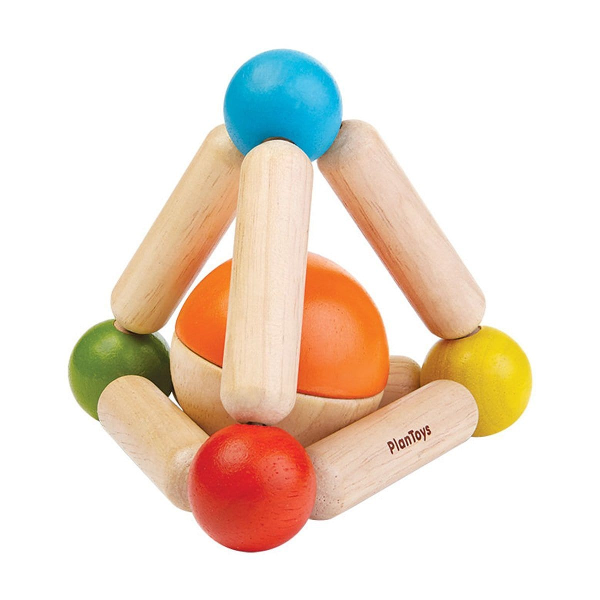 Triangle Clutching Toy Rattle - Plan Toys