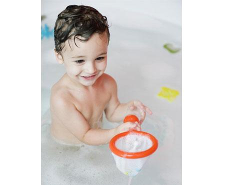 Boon Water Bugs Floating Bath Toy With Net Orange