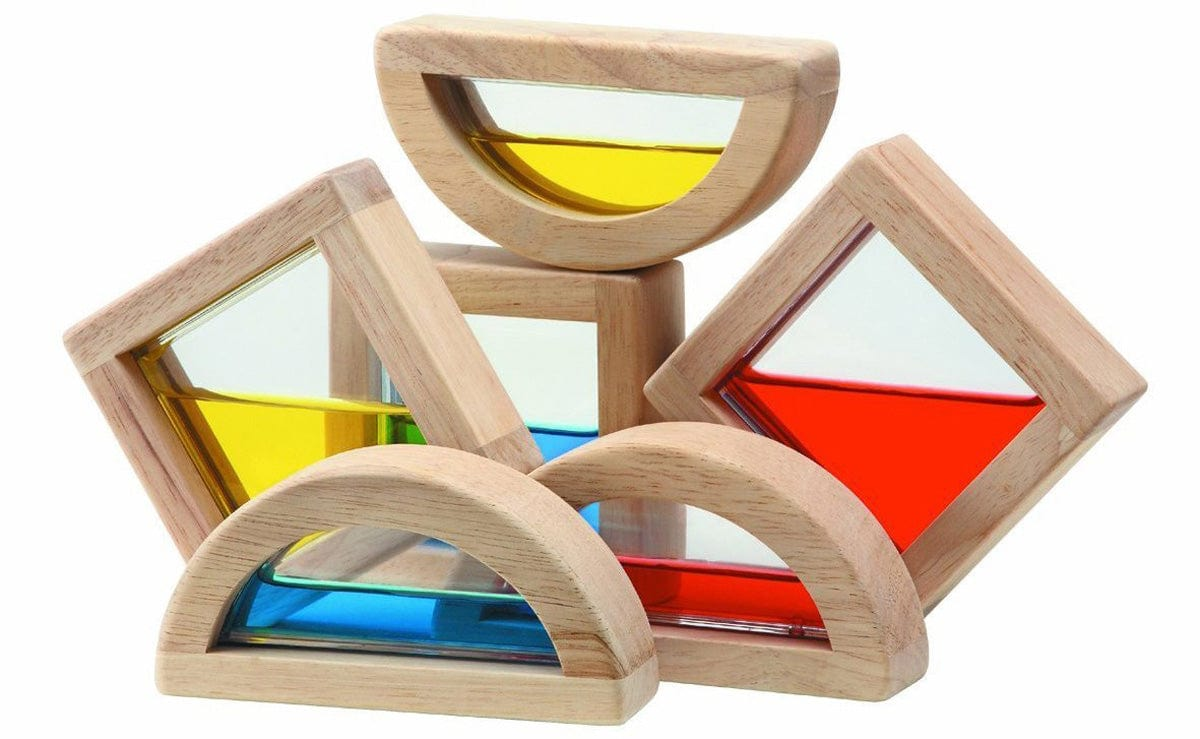 Plan Toys Wooden Colour Water Blocks