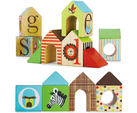 Skip Hop Alphabet Zoo Wooden House Blocks