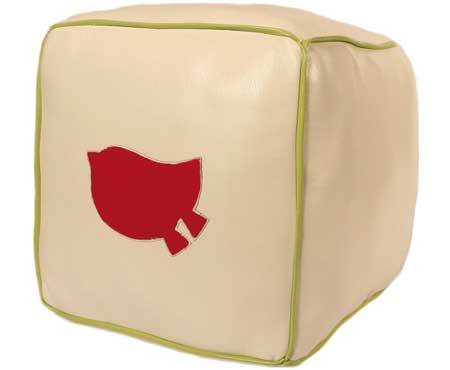 ZidZid Eco Square Poof Bird